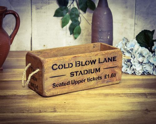 Vintage Small Wooden Stadium Box, Cold Blow Lane, The Den